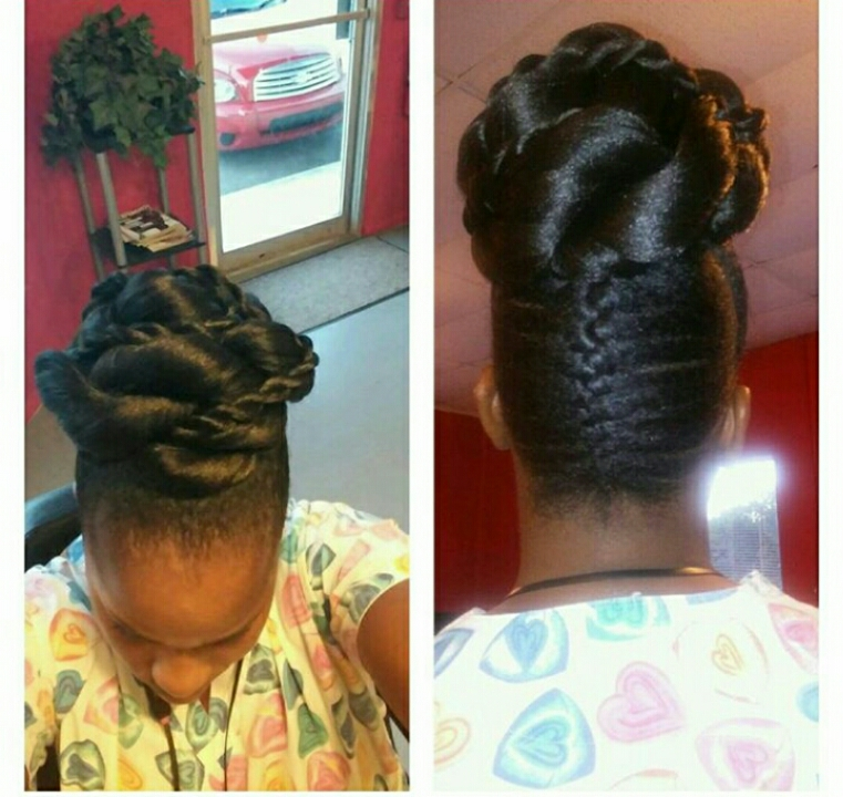 Natural Hair Updo Style