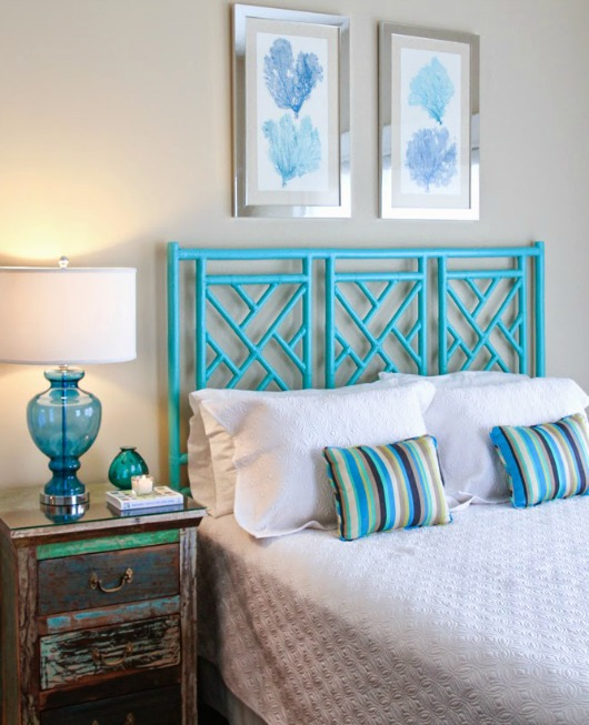 Turquoise Headboard and Decor Ideas for a Bedroom