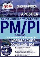 Apostila Concurso Polícia Militar-PI (PDF) Soldado PMPI - CFSd