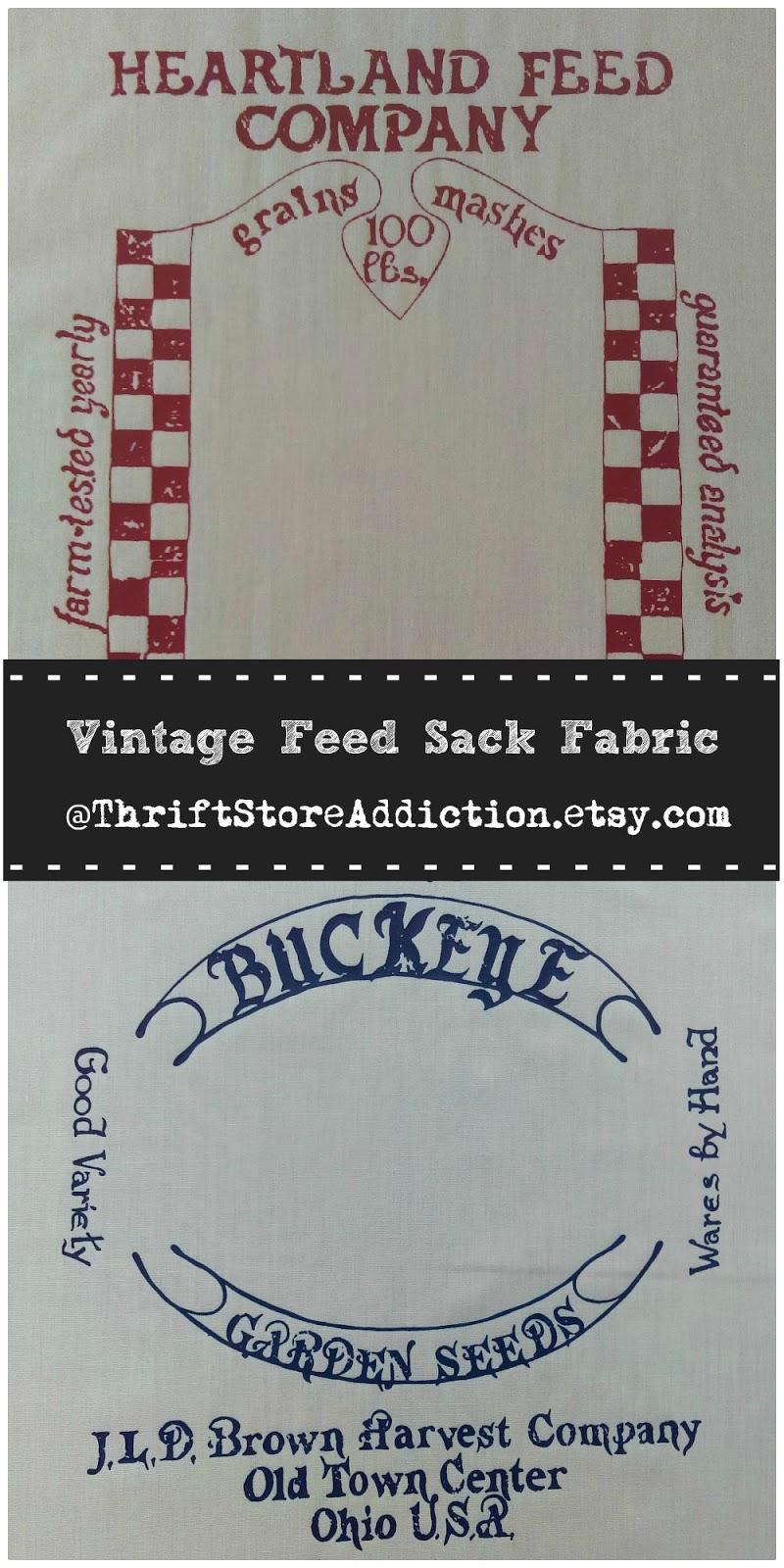 vintage feed sack fabric