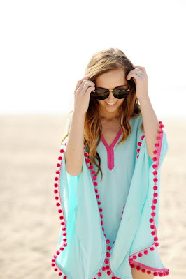 DIY Pompom Beach Cover Up