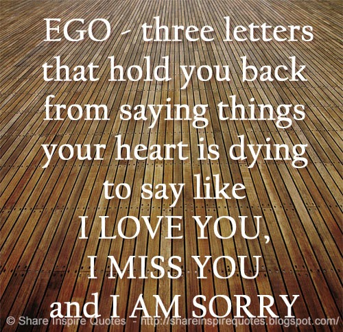 I Am Sorry I Love U Quotes: Three Letters That Hold You Back From Saying Things