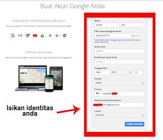 gambar daftar gmail