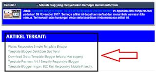 Cara Membuat Artikel Terkait Seo Friendly di Blogger