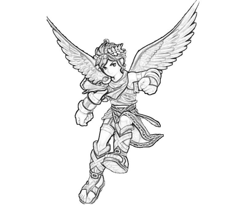 Kid Icarus Dark Pit Fly Mario