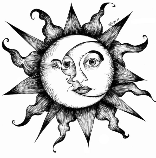 Mohit's blog: Jens tree items design photo and pencil ...  |Sun And Moon Design Drawing