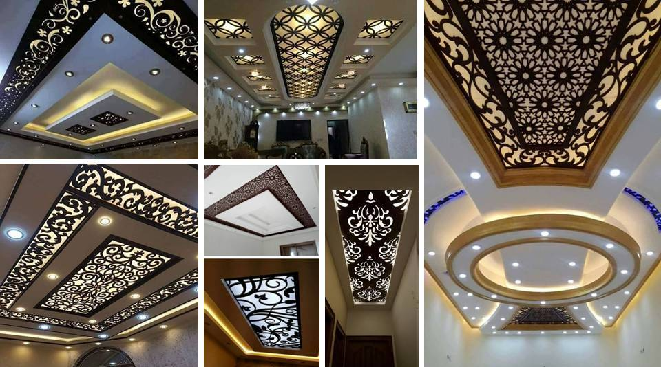 Cnc false ceiling designs ideas decor units for Salon haussmanien