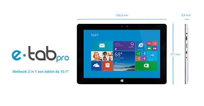 Primo tablet italiano: e-tab Pro doppio sistema operativo
