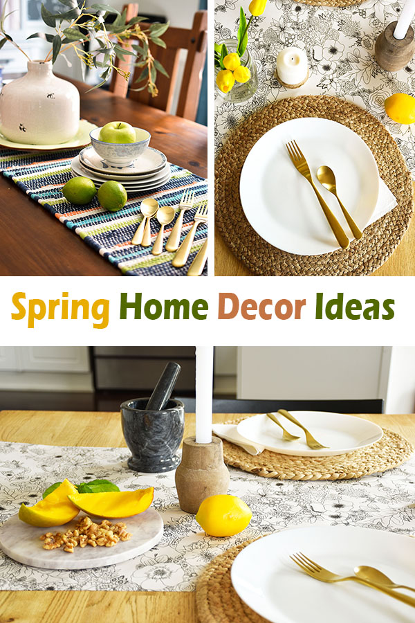Natural, rustic yet elegant simple spring decor touches for your home.