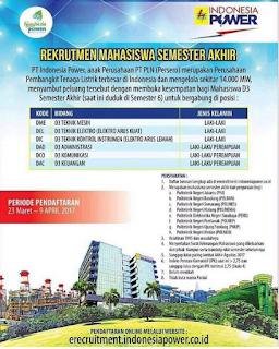 Lowongan Kerja BUMN Terbaru PT Indonesia Power (PLN Group)