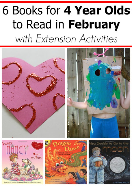 February books for 4 year olds with extension activities