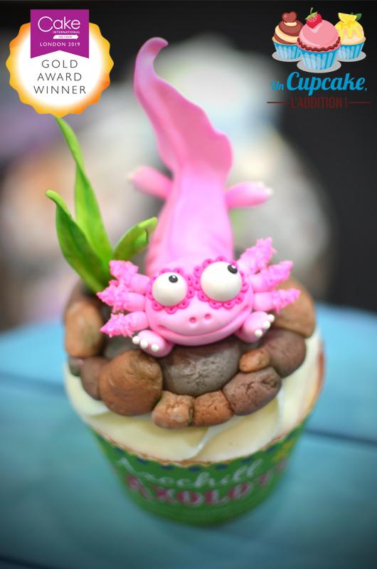 Cupcakes « Alebrijes Mexicains » - Axochitl l'Axolotl