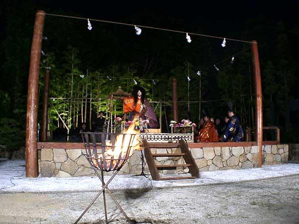 Takiginou at outdoor stage, Amagasaki City, Hyogo Pref.
