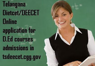 Telangana  D.Ed courses admissions apply online