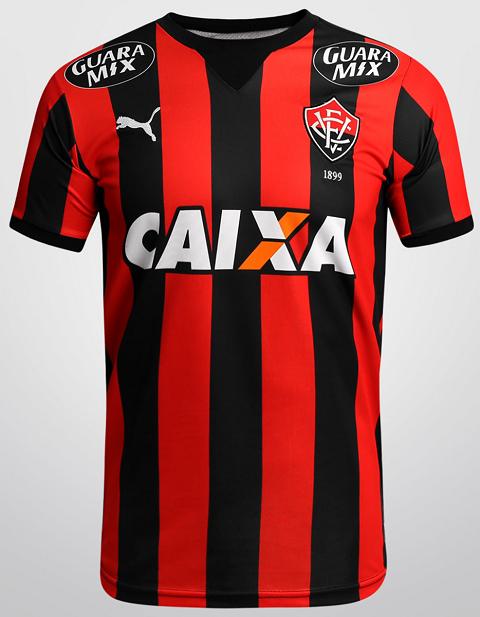 f03d8751fa O Esporte Clube Vitória divulgou os novos uniformes que usará na temporada  2015. Fabricada pela Puma