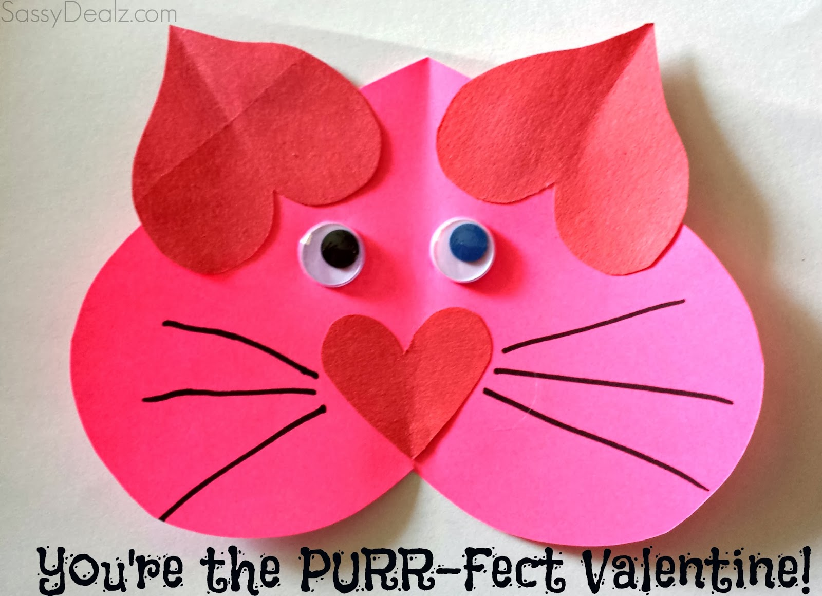 Valentine Heart Cat Craft For Kids You Re The Purr Fect Valentine