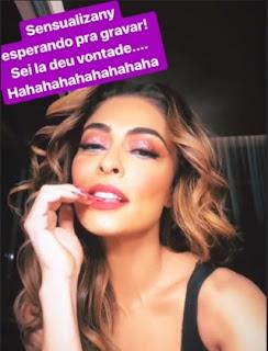 Juliana Paes nos stories (Reprodução/Instagram)