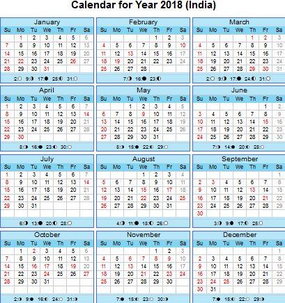2018 india full moon calendar