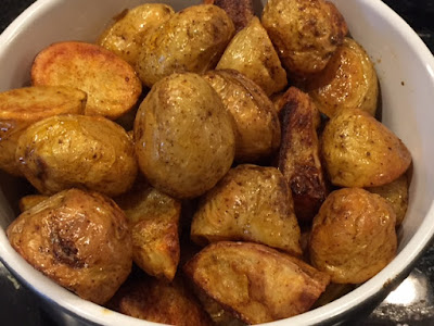 Smoked Paprika Roasted New Potatoes in a bowl