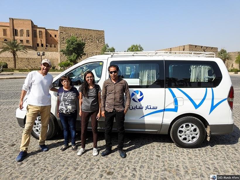 Ahmed, o guia, e Mahmoud, o motorista - Egito: tour com guia que fala português - Star Day Tour