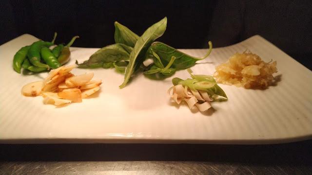 Basil leaves, Thai Ginger, lemon grass garlic, chillies Food Recipe Dinner ideas