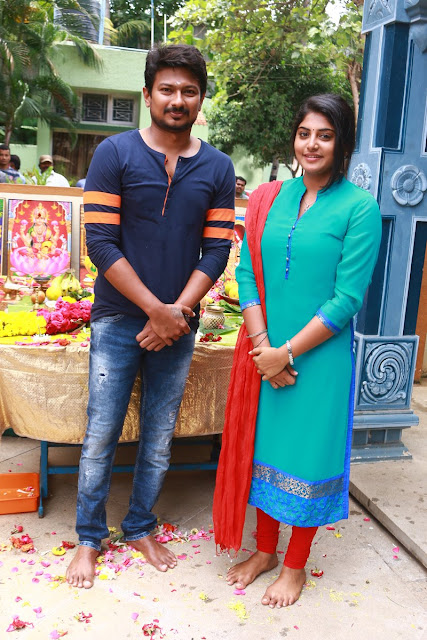 Udhayanidhi Stalin,manjima mohan new movie launch photos