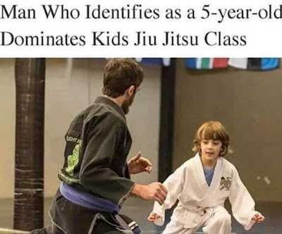 Man who identifies as a 5-year-old dominates kids jiu jitsu class