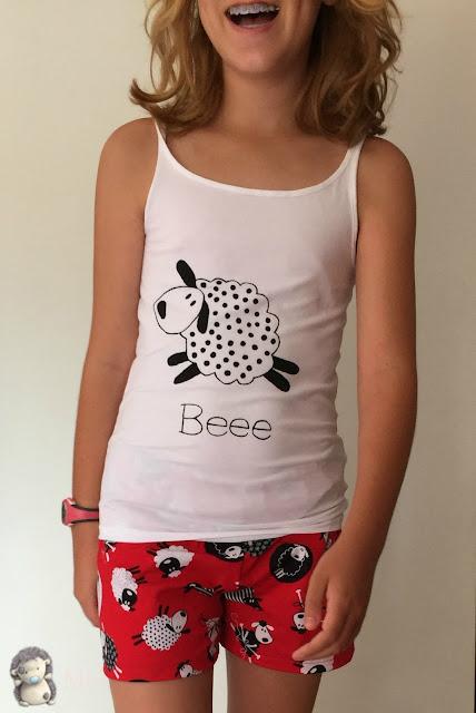 Pijama corto de verano, patrón gratis