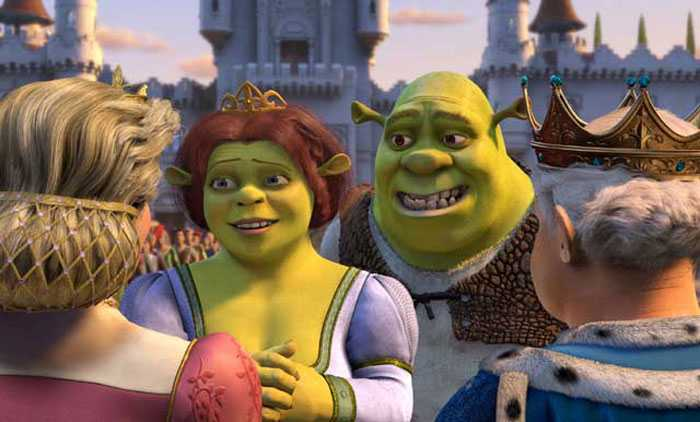 Shrek and Fiona, king and queen 2004 animatedfilmreviews.filminspector.com Shrek 2