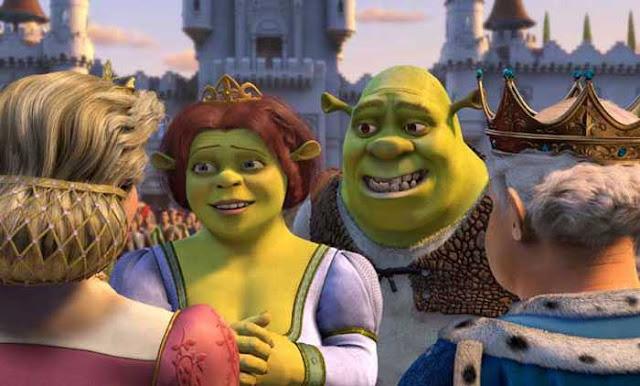 Shrek and Fiona Shrek 2