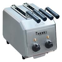 Toaster echipat cu manere de plastic. 300x200x tava de firimituri detasabila (H) 223 mm 230 V 1200 W
