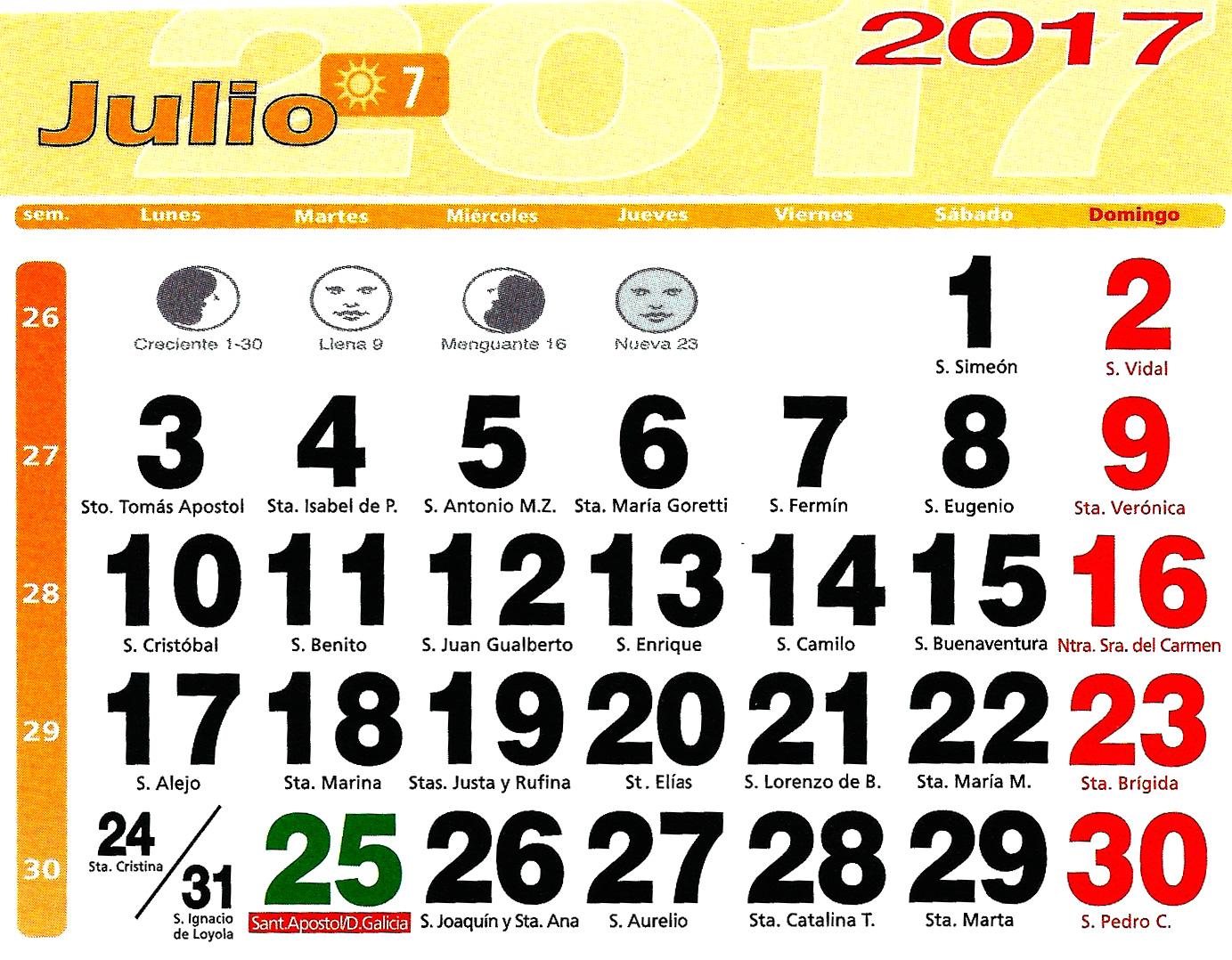 Huerto urbano luis servia borgas calendario lunar 2017 for Ciclo lunar julio 2016