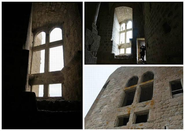 castillo de queribus ventanal