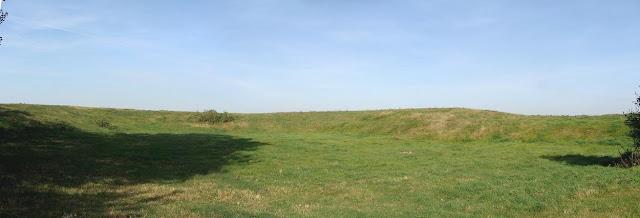 Małachowo - Złych Miejsc - piastowskie grodzisko - panorama majdanu