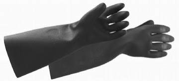 BLACK KNIGHT RUBBER GLOVES