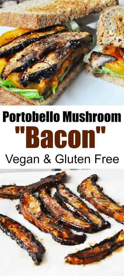 PORTOBELLO MUSHROOM BACON – VEGAN BACON #portobello #mushroom #bacon #vegan #veganrecipes #veggies #vegetarianrecipes #easyvegetarianrecipes