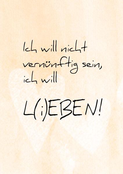 Lieben, Leben, lettering card