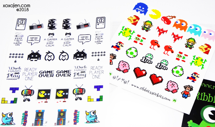 xoxoJen's swatch of Ribbits Stickits Water Slide Decal Set