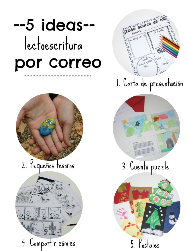 Practicar lectoescritura por correo, 5 ideas de cartas