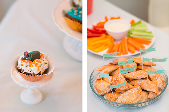 pastel jungle party, birthday buffet, candy bar, animal cupcakes, cheese pies