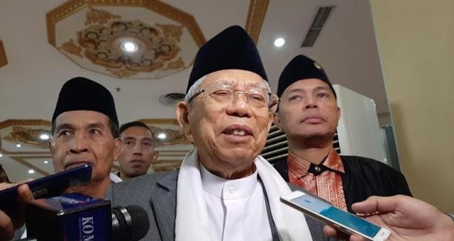 Ma'ruf Amin: Indonesia Negara Damai, Tak Boleh Gunakan Ayat Perang