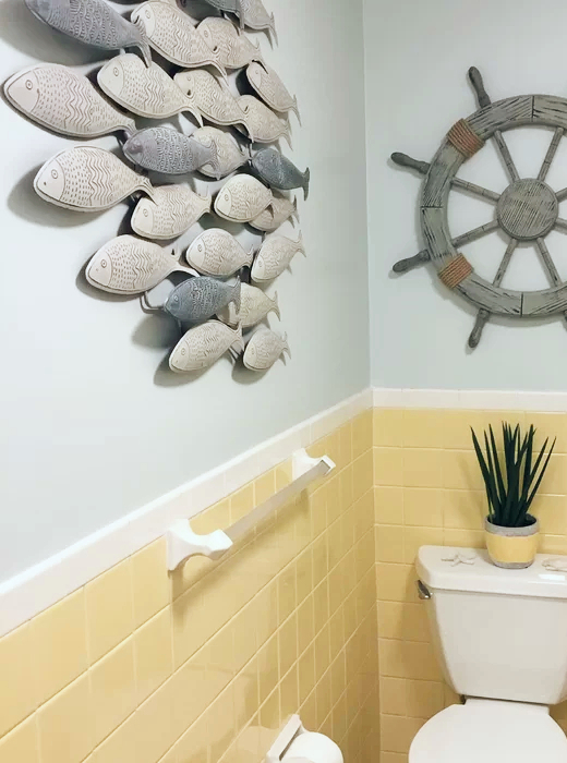 School of Fish Metal Wall Decor Art