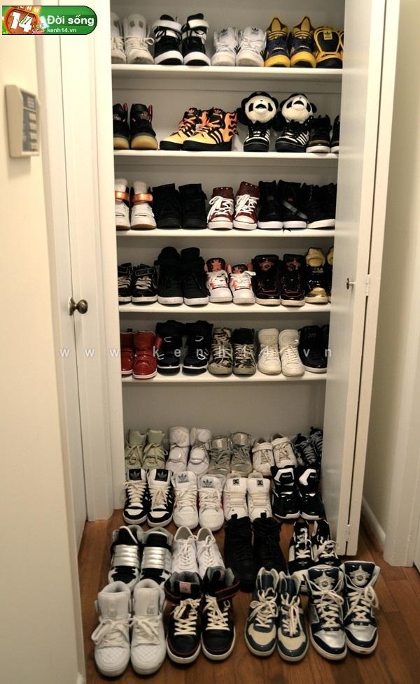 Bộ sưu tập giày sneaker tột đỉnh của anh chàng việt tại mỹ bạn nữ nào cũng m4ê