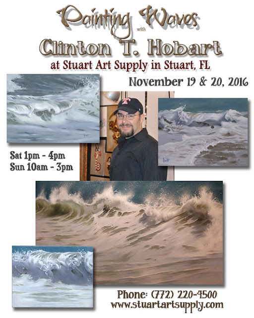 Wave Painting Workshop This Weekend In Stuart, FL