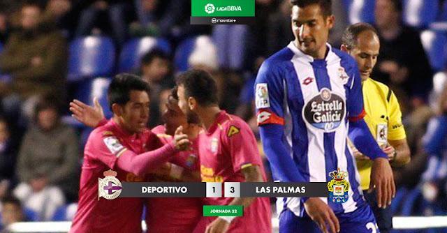 RCD La Coruña 1 - 3 UD Las Palmas