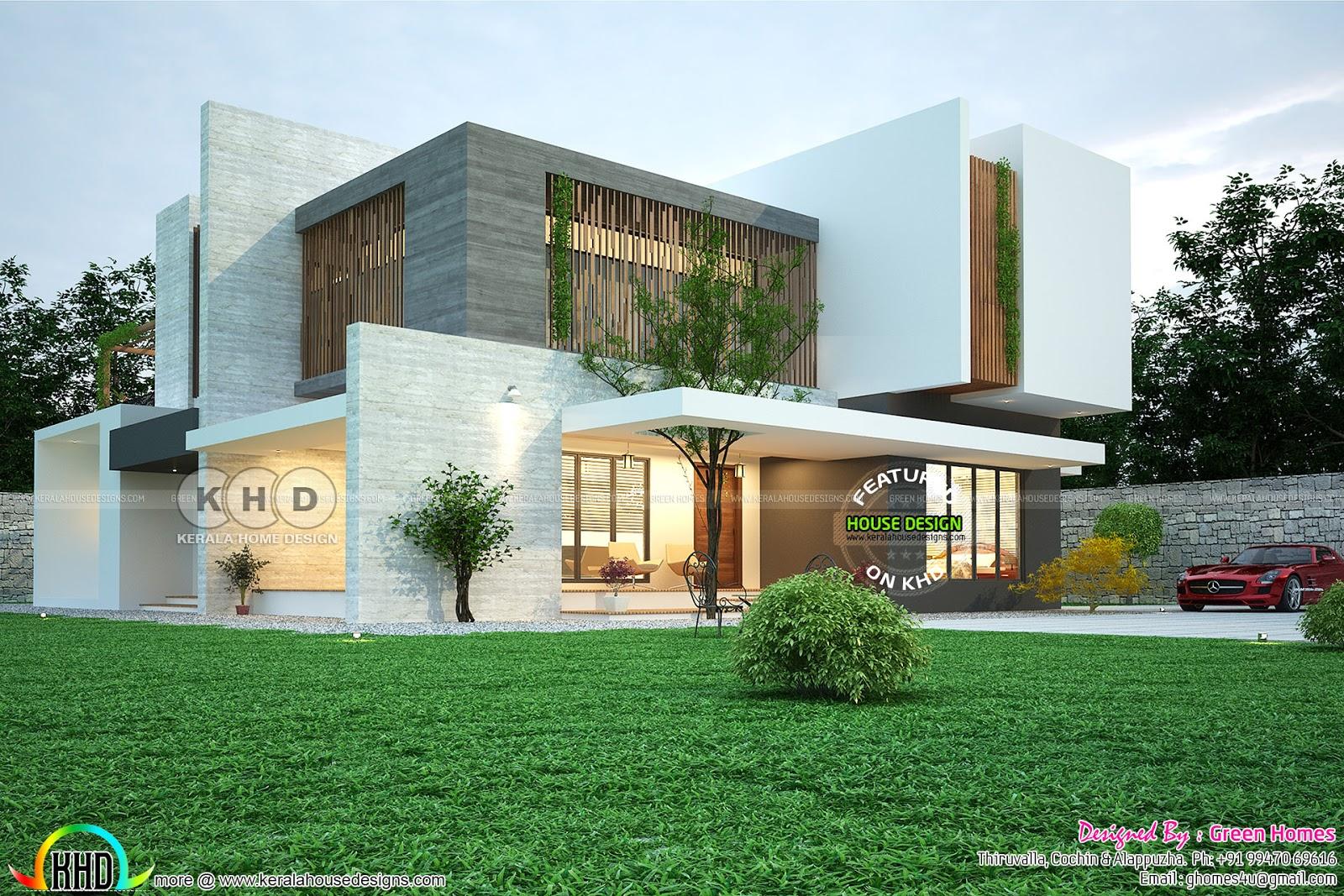 Contemporary Green Friendly Nature Home Kerala Home Design Bloglovin