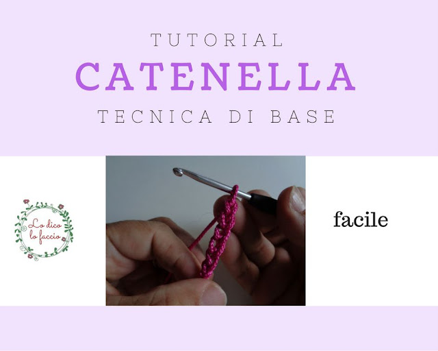 catenella base all'uncinetto