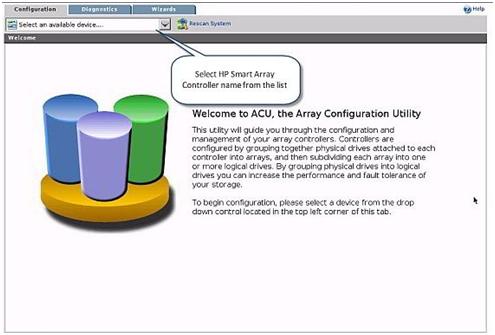 Hp Smart Array P400 Configuration Utility