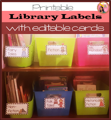 Library Labels for schools