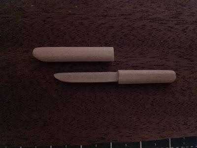 mini poignard en bois